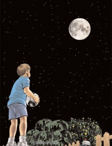 ABB - Boy looks at moon
