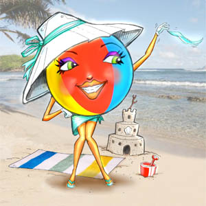 Beauty the Beach Ball