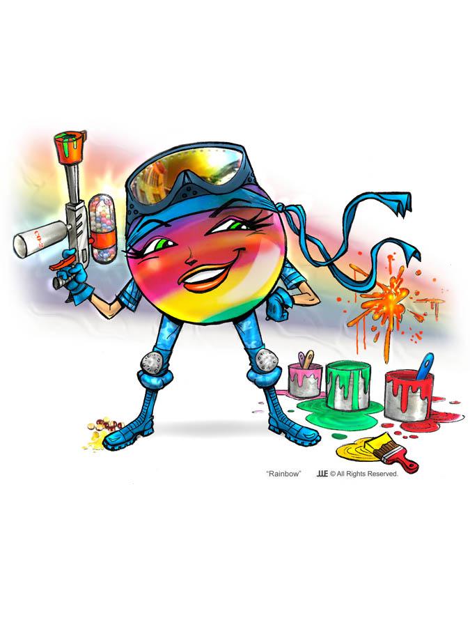 Rainbow the Paint Ball