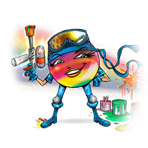 Rainbow the Paint Ball