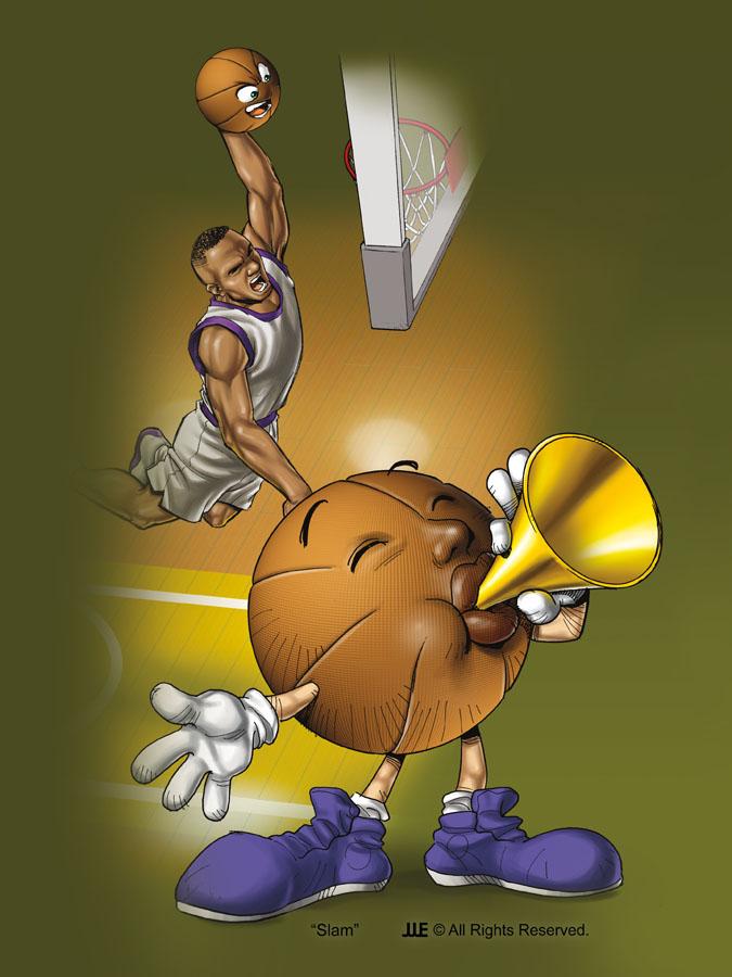 Slam the Basketball