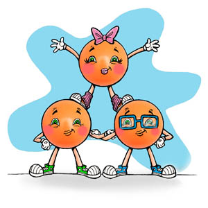 Woppie, Tossie and Tuggle the Juggling Balls